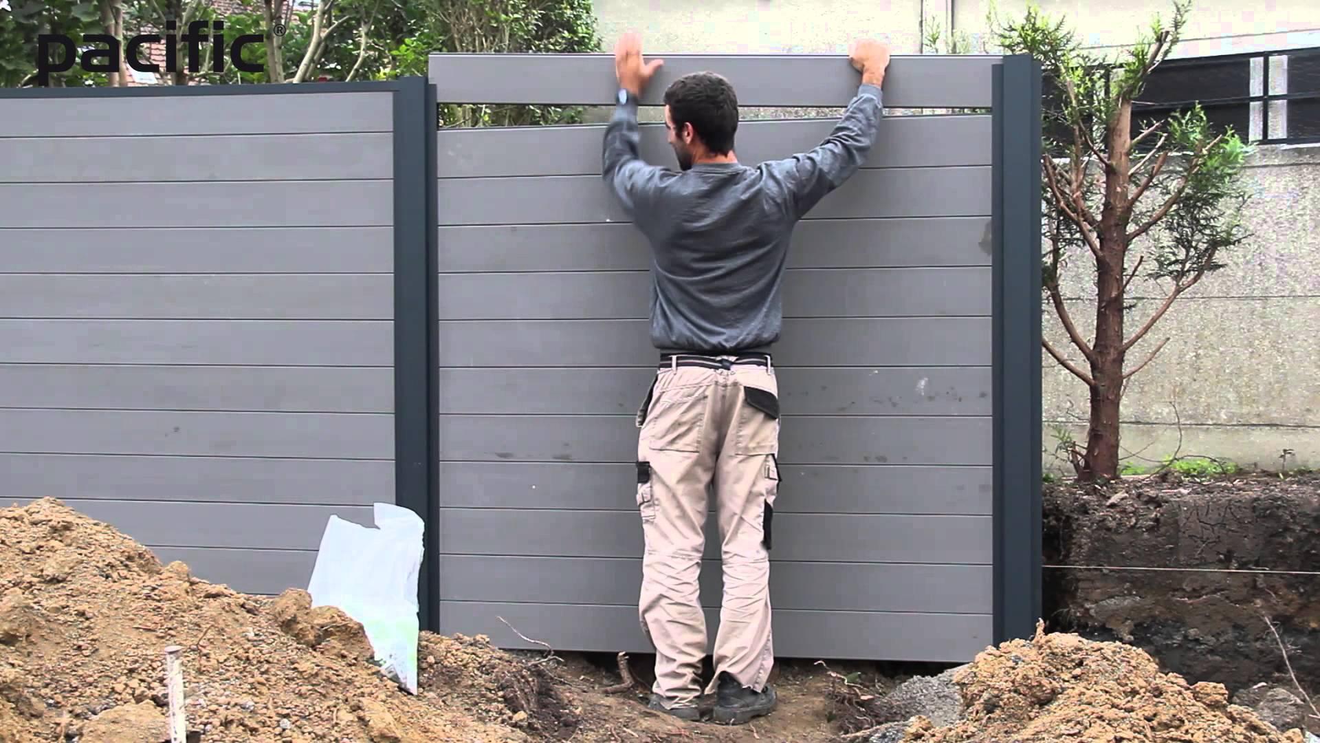 comment poser une palissade en aluminium   Ma Petite Clotûre